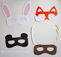 Woodland animal masks my blog posts pinterest animal for Woodland animal masks template