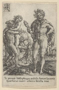 Hercules Squeezing Antaeus to Death, from The Labors of Hercules (1550)