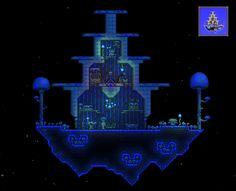 Terraria - Really nice floating glowing mushroom biome and Truffle's house. Brilliant idea.