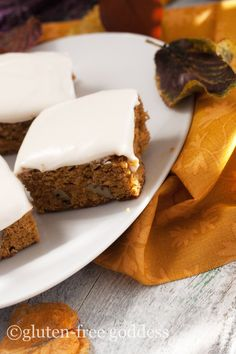 Best Gluten-Free Pumpkin Bars Recipe | Gluten-Free Goddess Recipes  vegan option