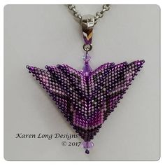 """The Phoenix - """"Deco"""" Triangle 3d, Beading Techniques, Beading Tutorials, Beading Patterns, Seed Bead Jewelry, Beaded Jewelry, Beaded Necklaces, Beads And Wire, Stud Earrings"""
