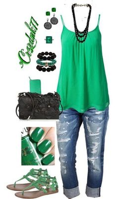 Love the green! this would be the perfect outfit on st. patricks day