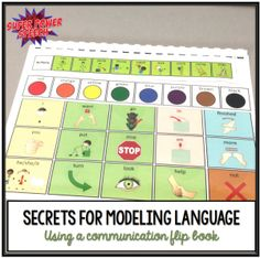 Modeling language with a communicatioon flip book and core vocabulary is extremely helpful for early language learners! Learn some secret tips for getting the most out of your core and fringe vocabulary!