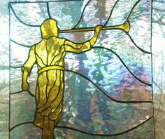 Angel Moroni Stained Glass Panel by Lightworksartworks on Etsy, $90.00