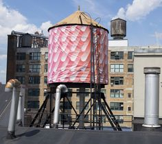 @WaterTankArt Sigrid Calon's water tank for The Water Tank Project in Chelsea, 530 West 25th Street, New York.   Photo: Jake Remington/Collabonyc.com