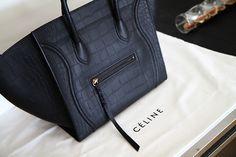 embossed leather #bag :: Phantom by #Celine