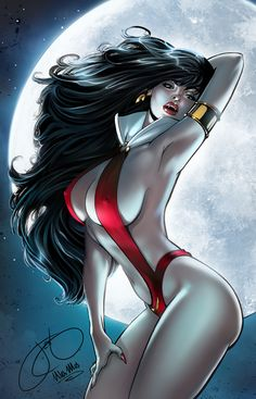 ☆ Vampirella :¦: Pencils & Inks Artist: Jen Broomall :¦: Colors Artist: Ula Mos ☆