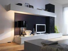 Home Theater - Mueble TV en laca y pizarra en mueblería de Ángel