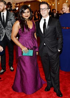 Mindy and B.J. at the Met Ball. Killing it.