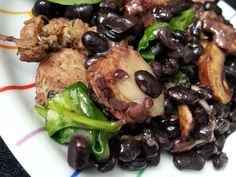 quick and nutritious weeknight meal of chicken sausage, black beans ...