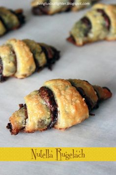 Living Lux...But Lighter: Nutella Rugelach
