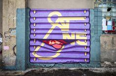 #Graffiti Artist SatOne war zu Besuch in Berlin für seine neueste Ausstellung.