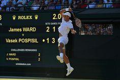 Vasek Pospisil on No.1 Court. Jon Buckle/AELTC Wimbledon 2015