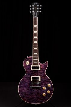 Gibson Les Paul Standard Quilt Top Regal Purple Why yes, someday I will have one of these. ;)