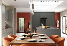 The Kitchen Depot - Made For A Lifetime Kitchen Depot, Bespoke Kitchens, Fitted Kitchens, Latest Kitchen Designs, Strip Lighting, Orange, Home Kitchens, Modern, New Homes