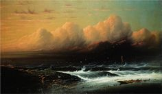 What Are The Wild Waves Saying by James Hamilton. Romanticism. marina