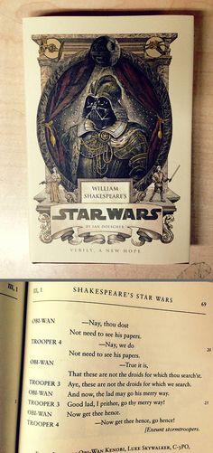 Shakespeare's Star Wars. It's Star Wars in Shakespearean language! I need this! @veritas47 or @taryntillotson my bday is coming!