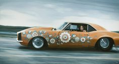 Car with kurbits! Painting by Andreas Englund
