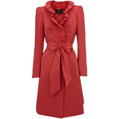 Coral Trench Coat