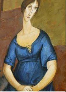 Étreintes: Jeanne by Amedeo Modigliani. Amedeo Modigliani, Modigliani Paintings, Italian Painters, Italian Artist, Art For Art Sake, Renoir, Pablo Picasso, Famous Artists, Oeuvre D'art