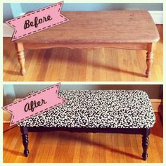 Love this idea for an old coffee table that has seen better days from BestDIYTrick.  | DIY for Home & Fashion | Kumbuya