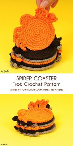 Free crochet coaster patterns,Spider Coasters Free Crochet Pattern-These free crochet coaster patterns are so cool and would be appreciative by all of your visitors and crochet enthusiasts and really amazing and stylish too. Crochet Gifts, Crochet Yarn, Free Crochet, Crochet Coaster Pattern Free, Free Pattern, Doilies Crochet, Thread Crochet, Easy Crochet, Crochet Sunflower