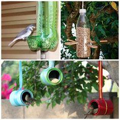 Reciclando e atraindo pássaros para seu jardim!