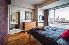SYRB The Sail #syrb #modern #interior #design #bedroom #cityview