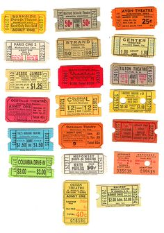 Give #wedding guests just the ticket they wanted with this selection of colorful vintage movie escort cards!