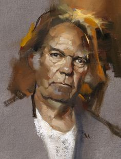 Greg Manchess   Neil Young      Muddy Colors: 10 Things... Applying Paint