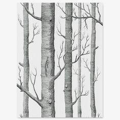 Woods behang van Cole & Son / zwart-wit – Wolf & Wolkje