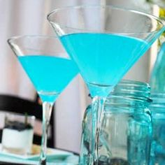 Blue cocktails.