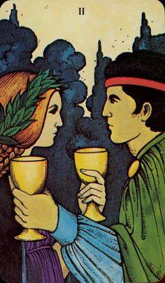 Twon of Cups - Morgan-Greer Tarot by Bill Greer, Lloyd Morgan
