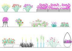 Flowers - CAD Blocks, free dwg file.