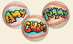 Baseball party favor...Let kids design their own baseball