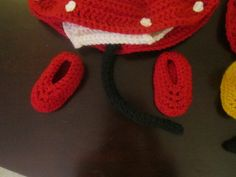 Crochet Minnie Mouse Booties
