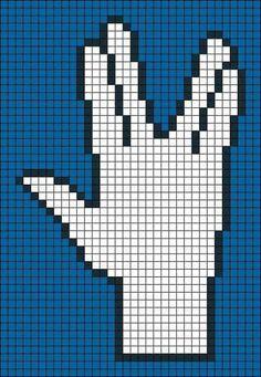 ideas crochet stitches star perler beads for 2019 Pony Bead Patterns, Perler Patterns, Loom Patterns, Beading Patterns, Mosaic Patterns, Star Trek Cross Stitch, Frozen Cross Stitch, Crochet Star Stitch, Crochet Stars