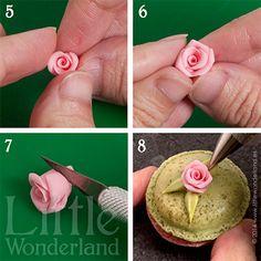 Mini rosas con pasta de flores   Little Wonderland
