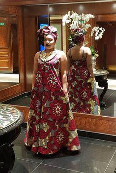 Ankara maxi dress/ African print maxi/ maxi dress/ Maria maxi Yellow by GITAS Portal Long African Dresses, African Print Dresses, African Print Fashion, African Fashion Dresses, African Prints, African Attire, African Wear, African Women, Maxi Outfits