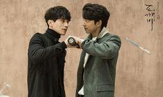 Gong Yoo and Lee Dong Wook - Goblin.  Can life get any better than this?!? Lee Dong Wook Goblin, Goblin Gong Yoo, Goblin Wallpaper, Lee Dong Wook Wallpaper, Goblin Korean Drama, Ji Eun Tak, Yoo In Na, Kwon Hyuk, South Korea Seoul