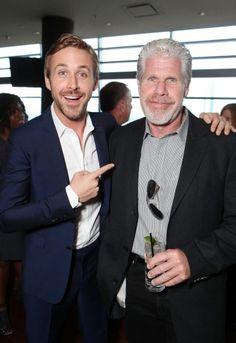 Ryan Gosling and Ron Perlman