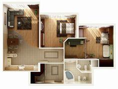 Планировка квартиры с двумя спальнями. Фото 29