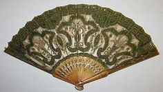 Fan, 1855, American, made of silk and tortoise shell