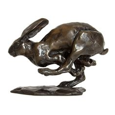 Sue Maclaurin Bronze Sculpture Running Hare www.nelsonandforbes.co.uk