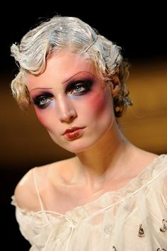 Makeup by the one and only Pat Mcgrath 1920's make-up: John Galliano - Runway Paris Fashion Week Spring/Summer 2011