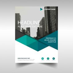 Polygonal corporate brochure template Free Vector