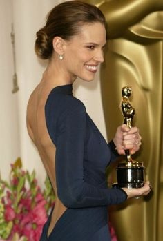 Hillary Swank. Beat this. It's my favorite dress of all time.