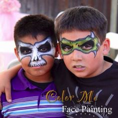 Boy face painting - Color Me Face Painting