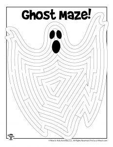 Printable Halloween Mazes for Kids | Woo! Jr. Kids Activities : Children's Publishing Printable Puzzles For Kids, Mazes For Kids, Halloween Maze, Halloween Cards, Color Puzzle, Halloween Coloring, Activities For Kids, Printables, Group