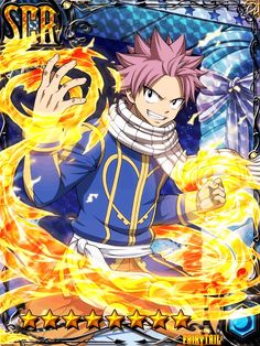 Natsu Dragneel - Fairy Tail gree cards